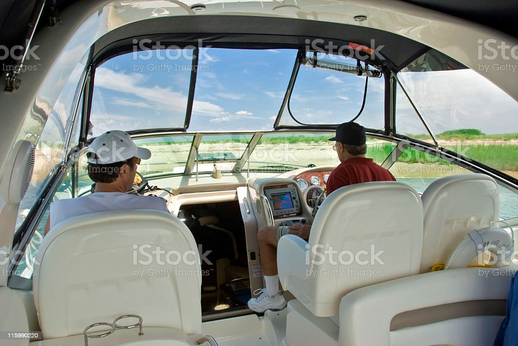 Day of Fun on the Boat royalty-free stock photo