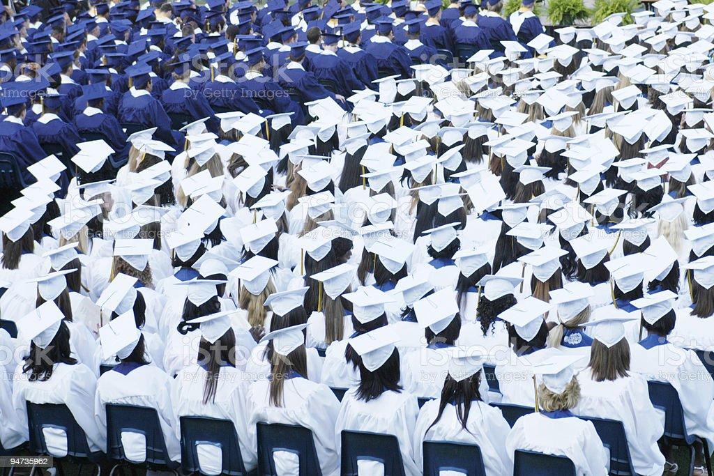 Day of Graduation royalty-free stock photo