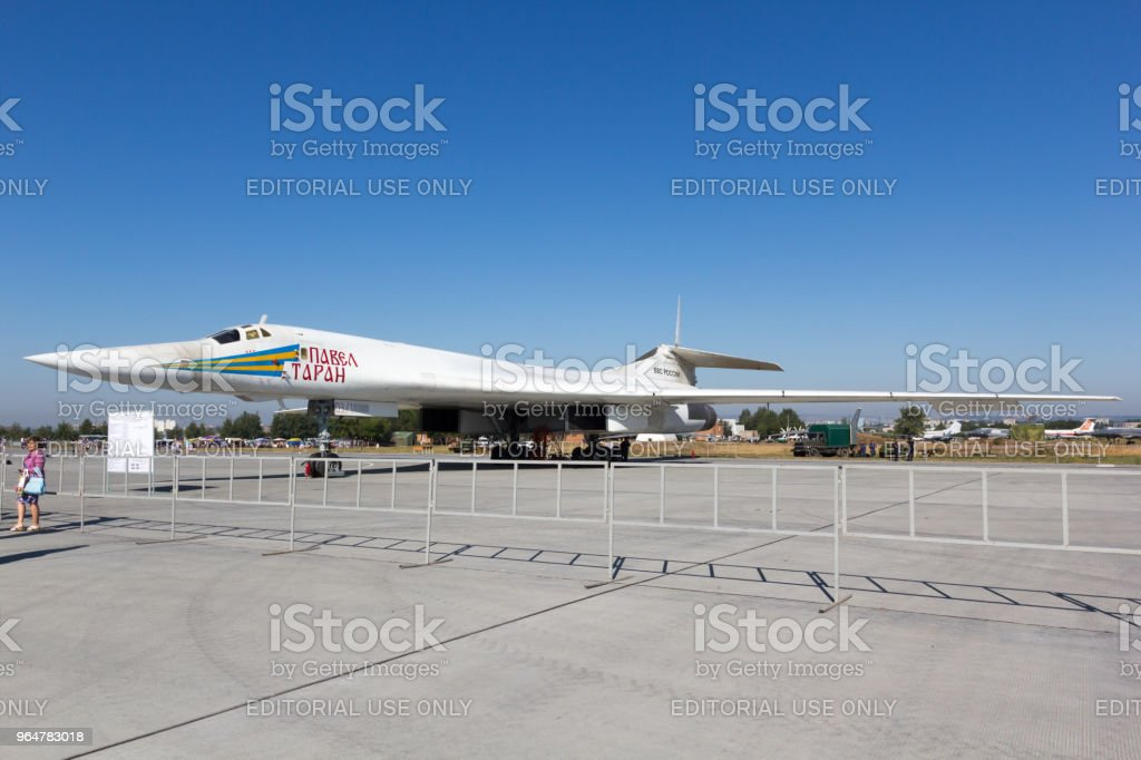Day of the Air Fleet. Airplane in the aircraft park royalty-free stock photo