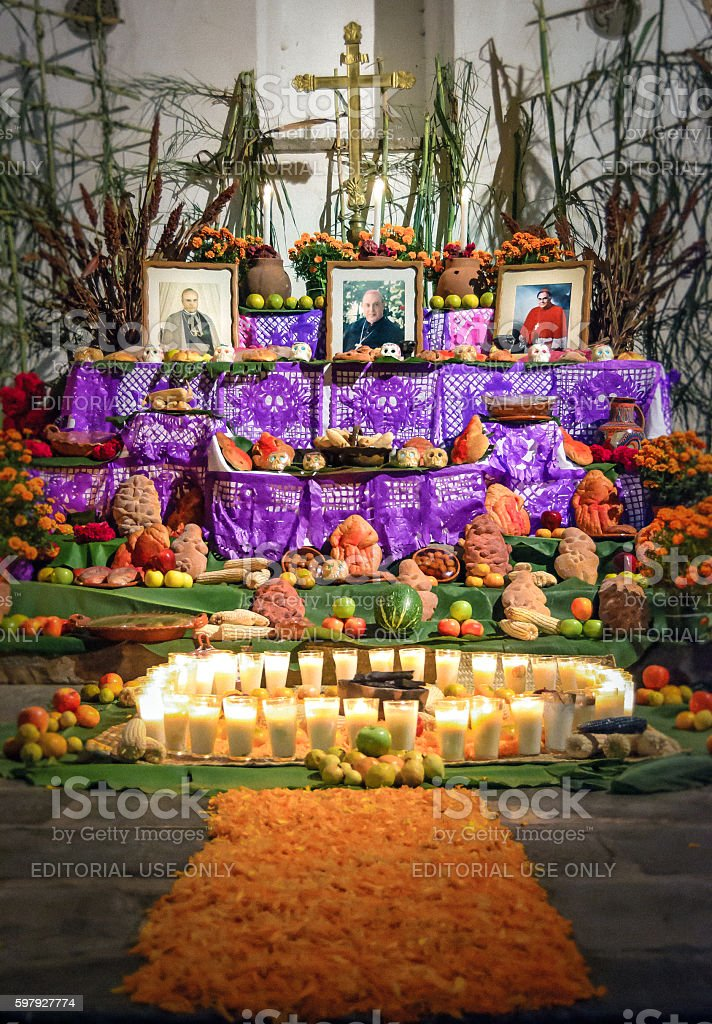 Day of the dead altar stock photo