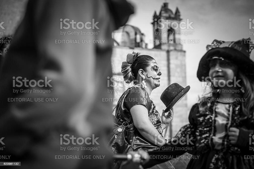 Dia dos Mortos, fantasias, em Oaxaca, México foto royalty-free