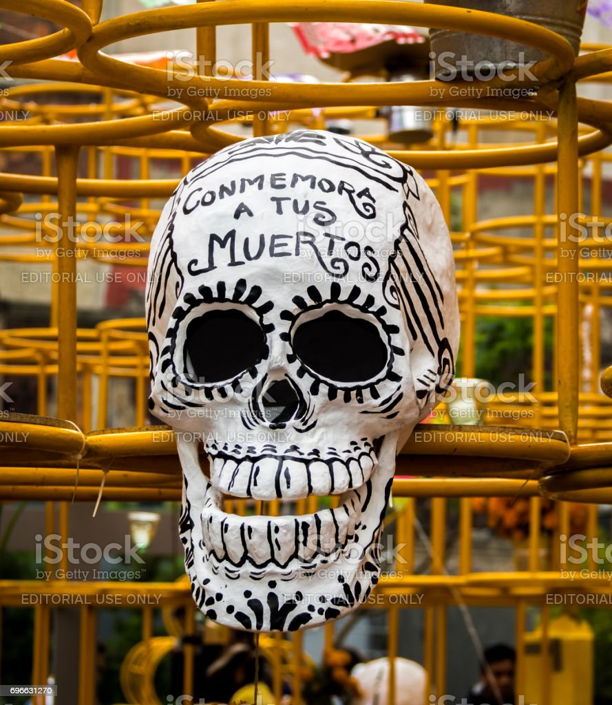 Day Of The Dead Decoration Mexico City Mexico Stock Photo More