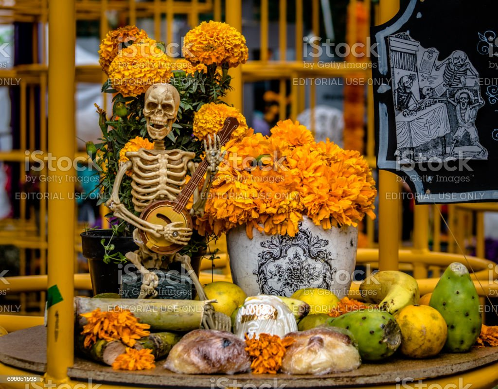 Day of the Dead (Dia de los Muertos) Decoration - Mexico City, Mexico stock photo
