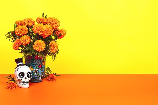 Day of the dead, Dia De Los Muertos Celebration Background