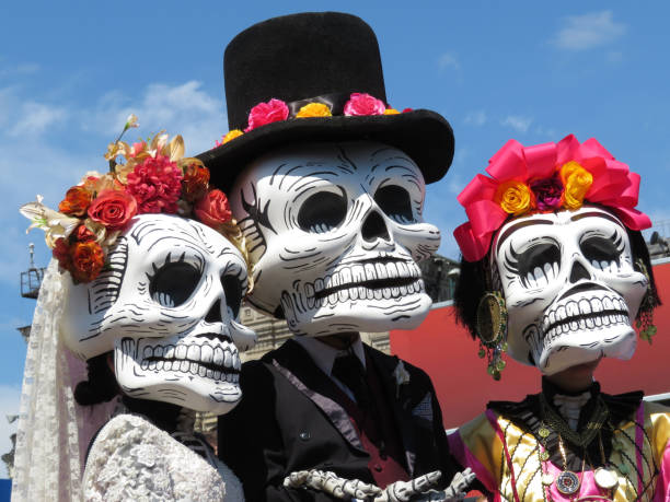 죽은, 죽은 자들의 날 - 멕시코 뉴스 사진 이미지