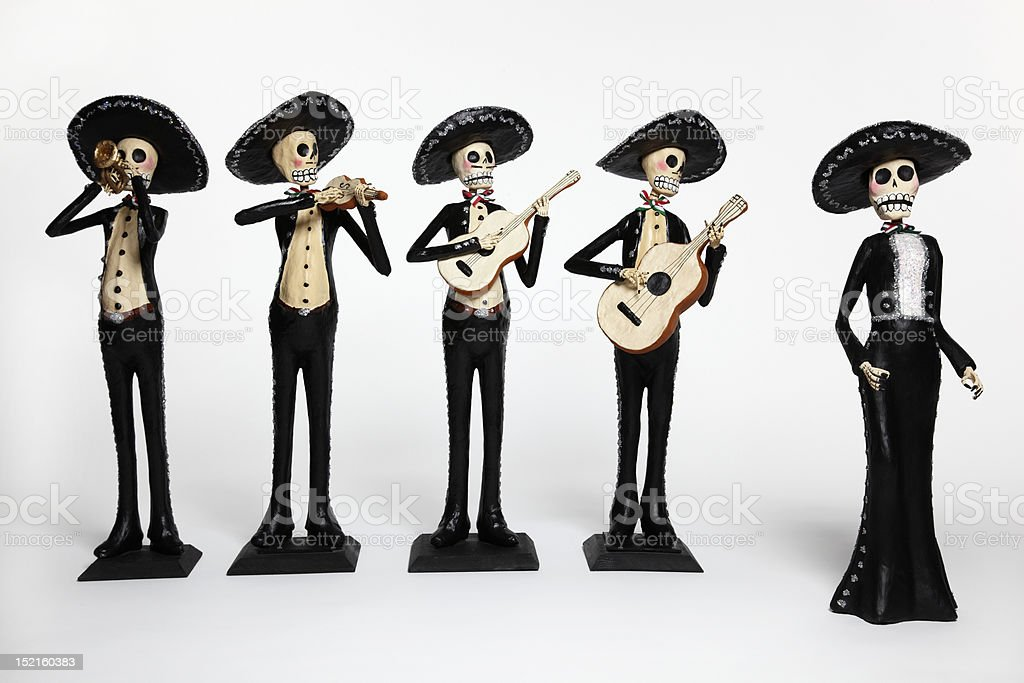 Day of the Dead dolls - Mariachi Band with Singer stock photo