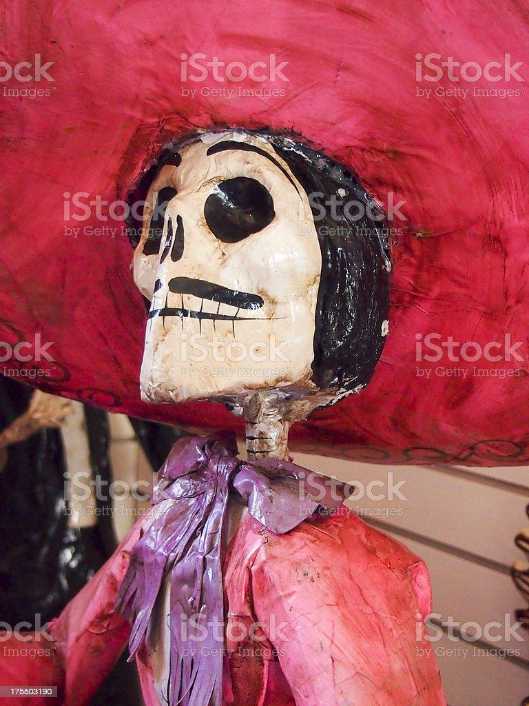 Day of the Dead Figure, El Día de los Muertos royalty-free stock photo