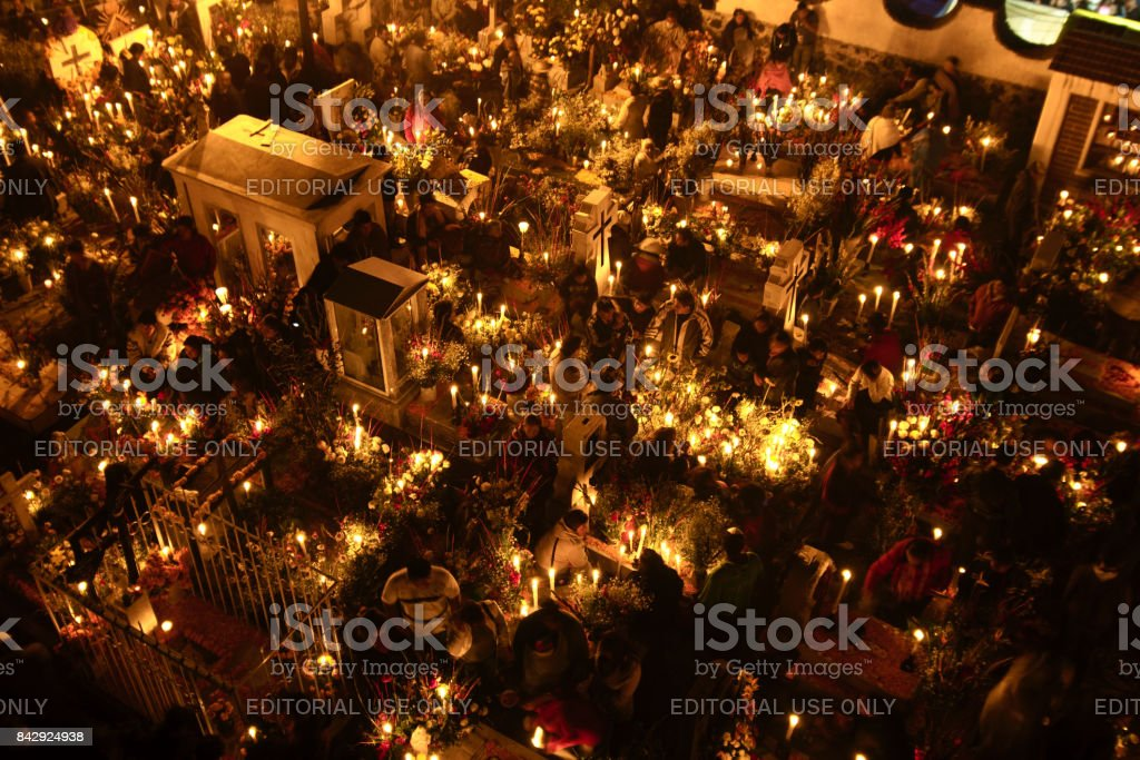 Day of the dead in San Andrés Mixquic. stock photo