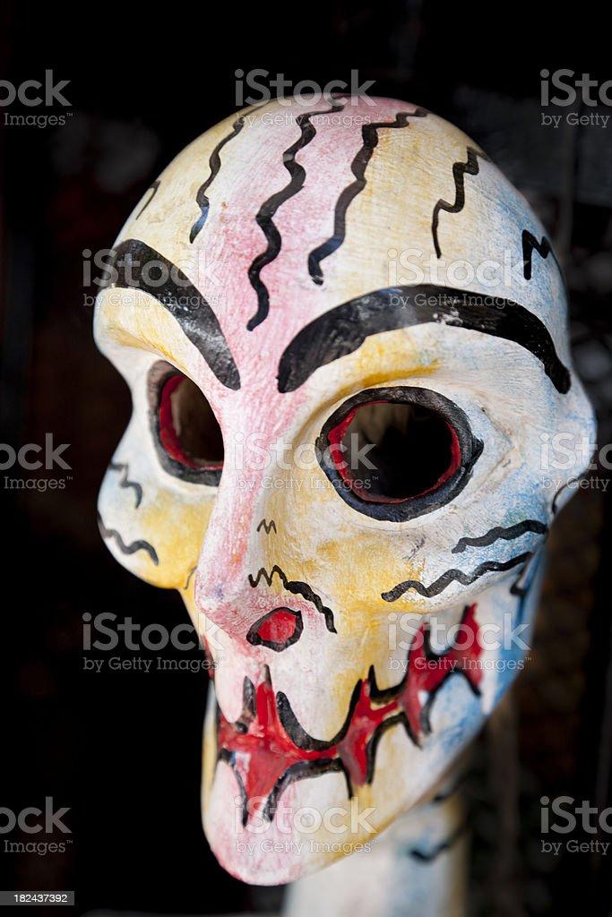 Day of the Dead Mask, El Día de los Muertos royalty-free stock photo