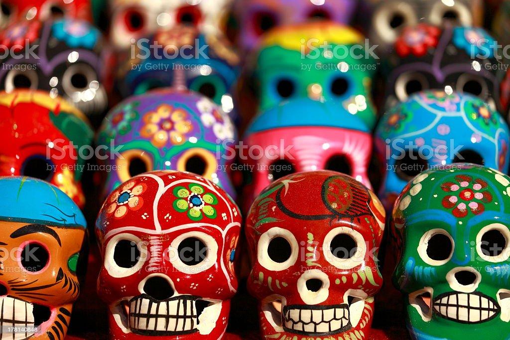 Día De Muertos Mexican Calaveras Skulls Pattern Mexico