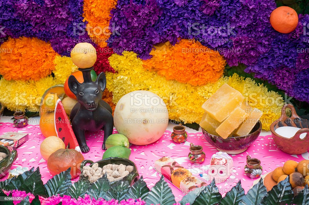 Day of the Dead Offering Altar Gifts For the Afterlife stock photo