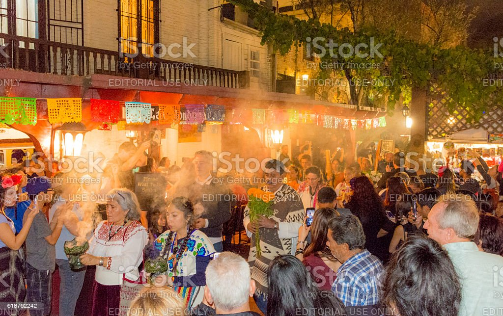 Day of the Dead Parade - El Pueblo Los Angeles stock photo