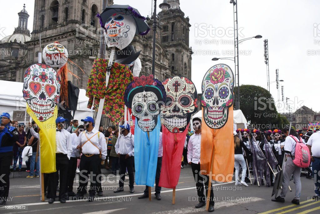 Day Of The Dead Parade Mexico City Stock Photo Download Image Now Istock
