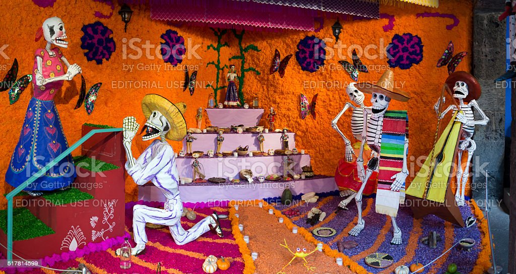 Day of the Dead skeletons in Mexico stock photo