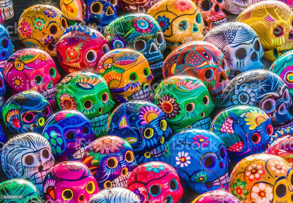 Dia dos Mortos Skulls - foto de acervo