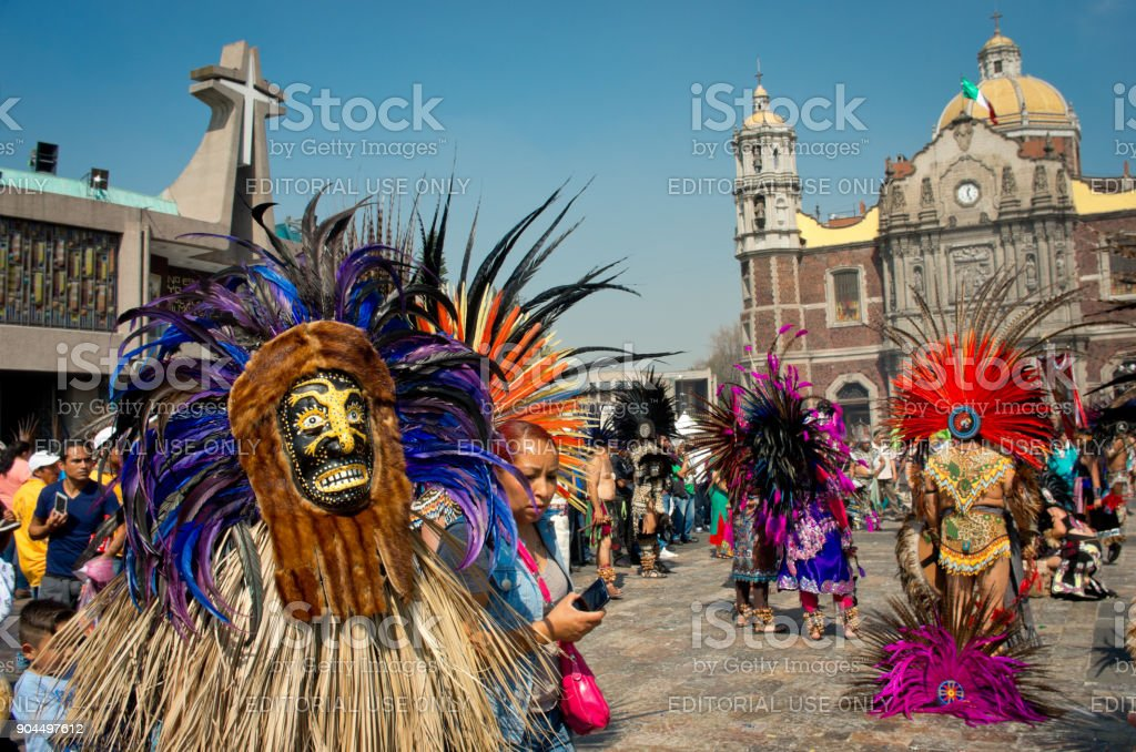 Day of the Virgin of Guadalupe in Mexico City stock photo