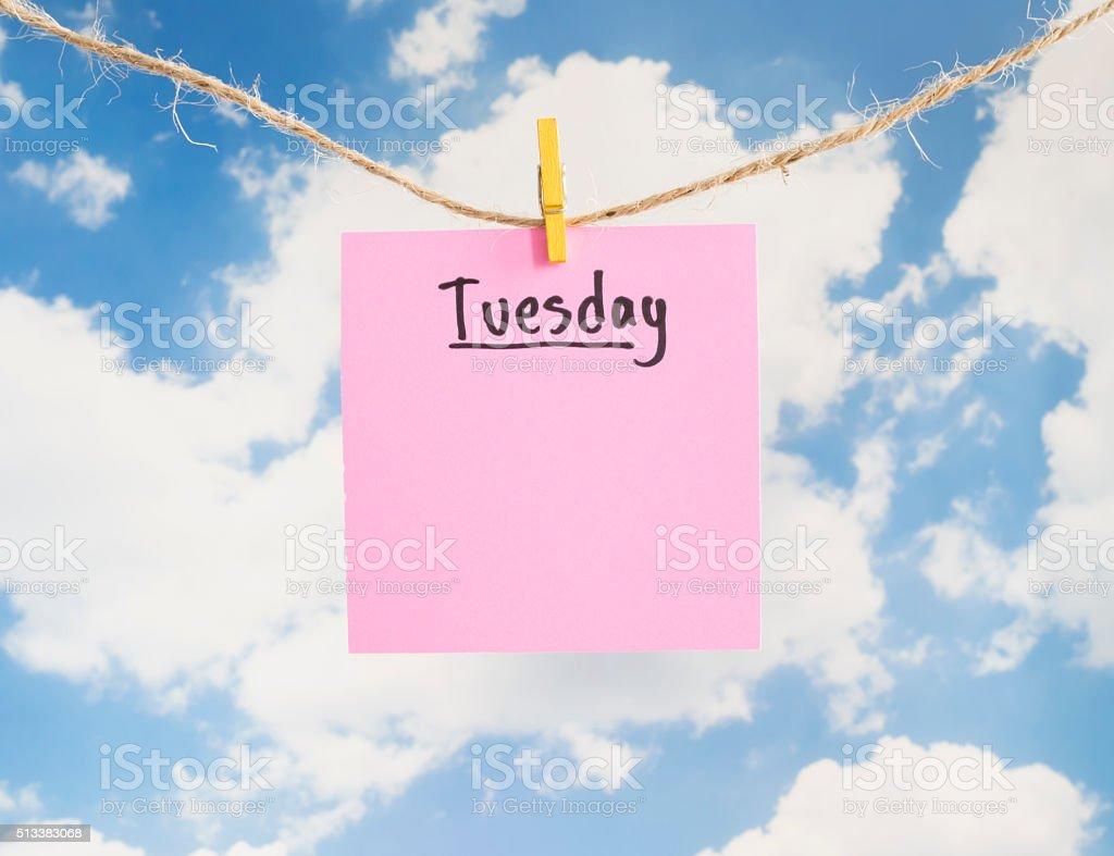 Day of the week 2 stock photo