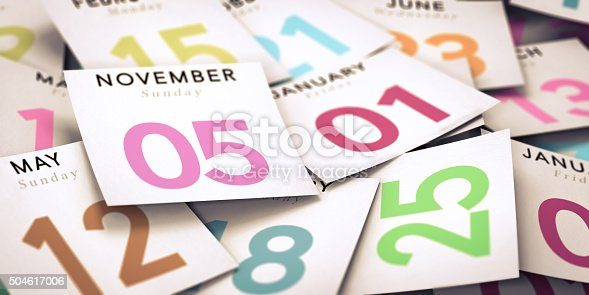 istock Day of the Week, Calendar 504617006
