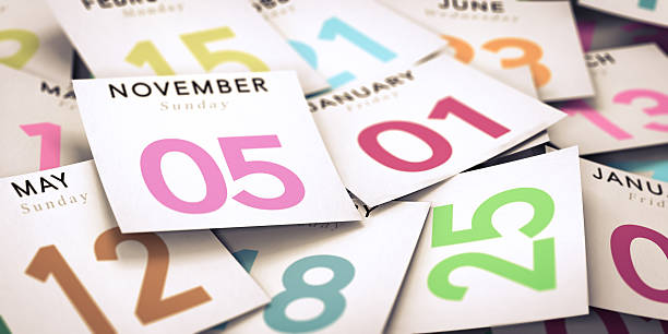 day of the week, calendar - calendar date stock photos and pictures