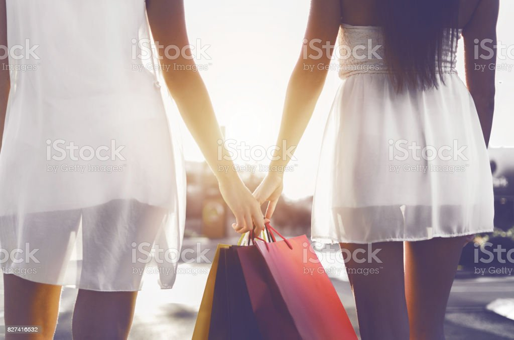 day off shopping stock photo