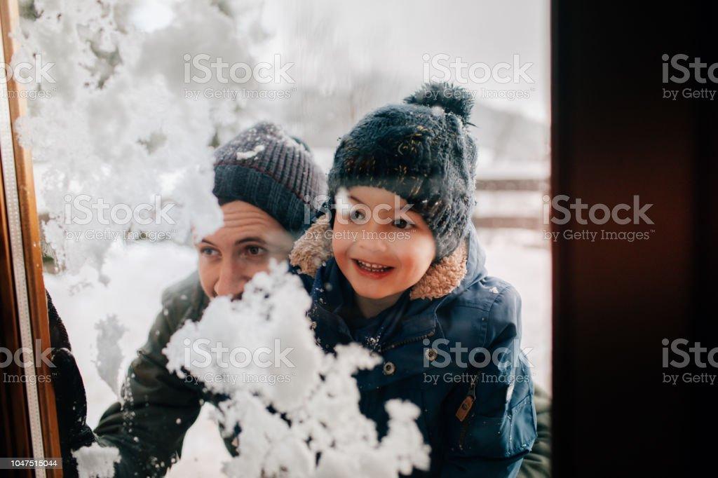 Tag im Schnee mit meinem Vater – Foto