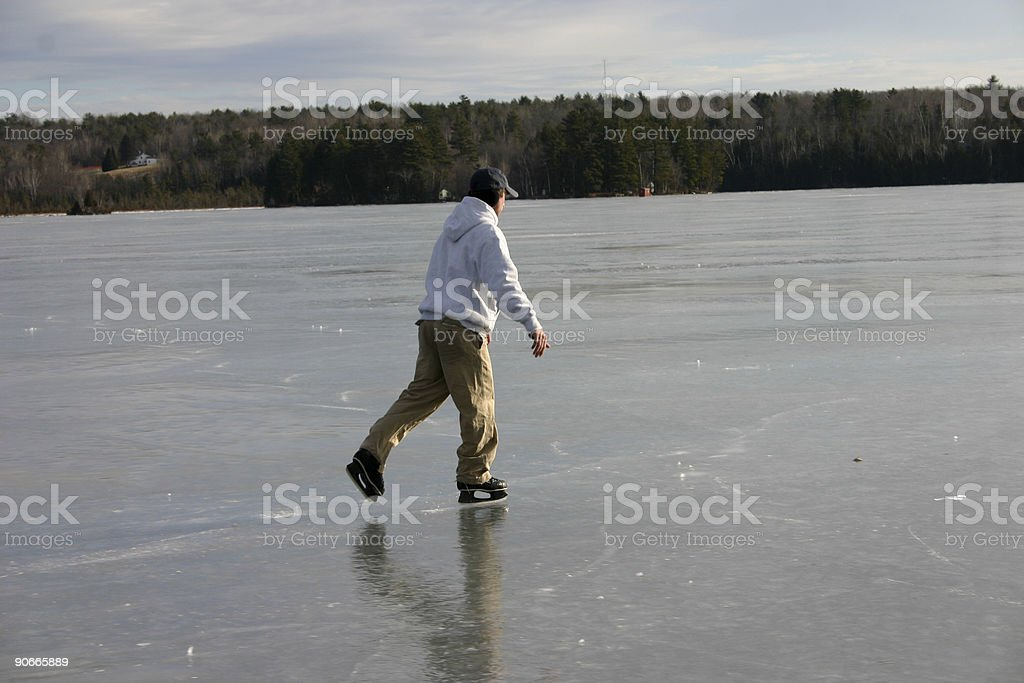 Day on the lake royalty-free stock photo