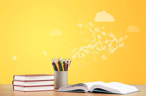 Day. Day international school teachers blackboard books brazil spelling stock pictures, royalty-free photos & images