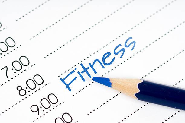 day schedule fitness - calendar workout bildbanksfoton och bilder