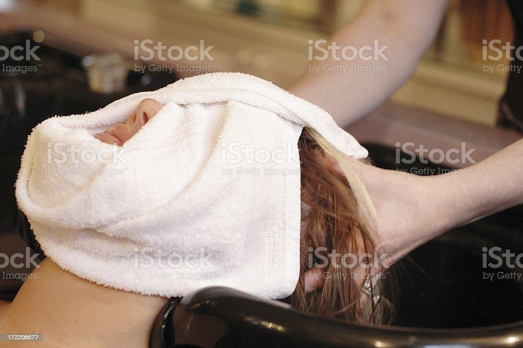 Day Spa Warm Towel stock photo