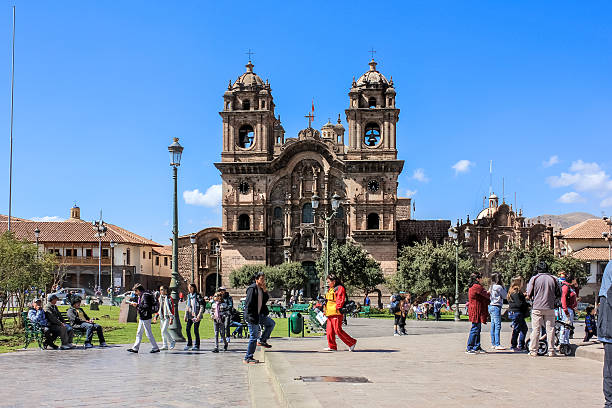 Day time in Cusco stock photo
