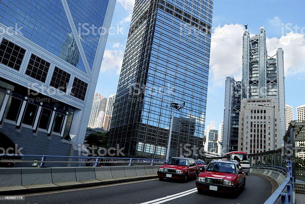Day Traffic Hong Kong royalty-free stock photo