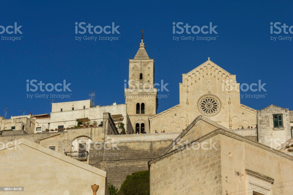 Day view of Matera Duomo Cathedral and its bell tower - Zbiór zdjęć royalty-free (Basilicata)