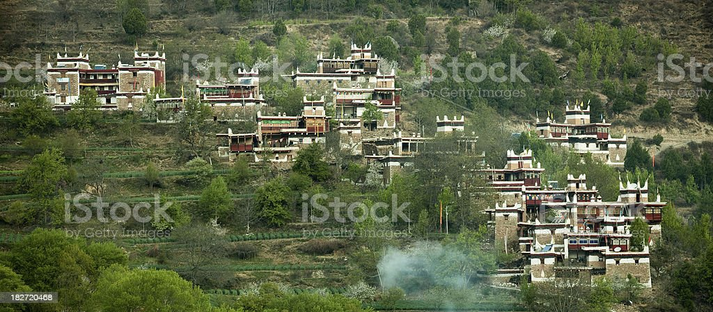 Day view of the castle at Danba Sichuan province China royalty-free stock photo