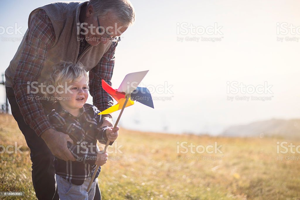 Day with my Grandpa stock photo