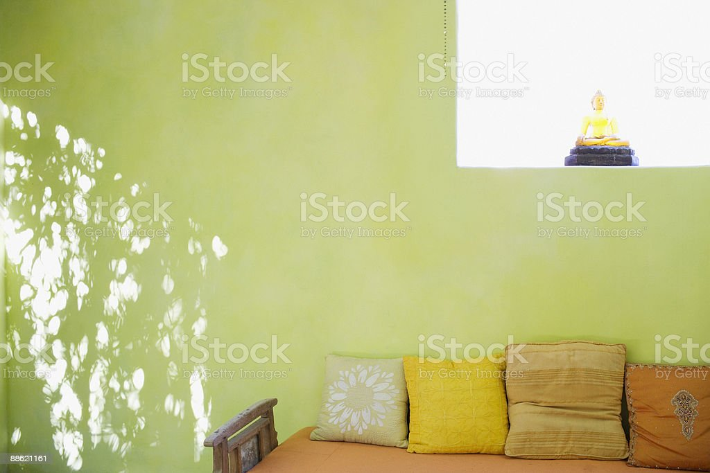 Daybed in green room royalty-free stock photo