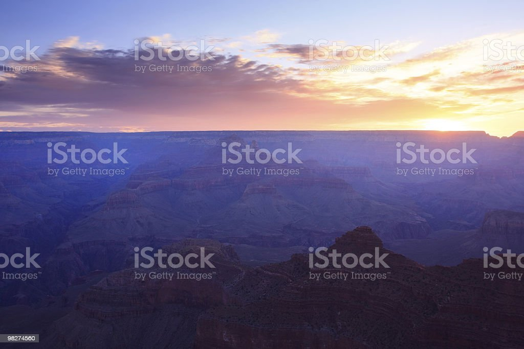 Daybreak at the Grand Canyon royalty-free stock photo