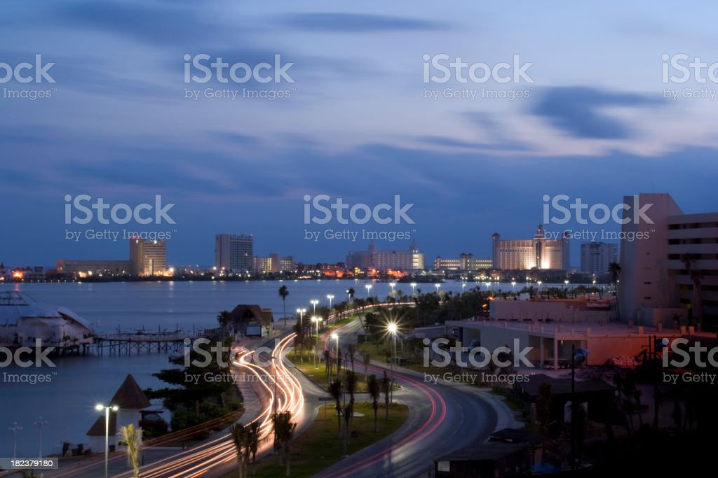 Daybreak Cancun royalty-free stock photo
