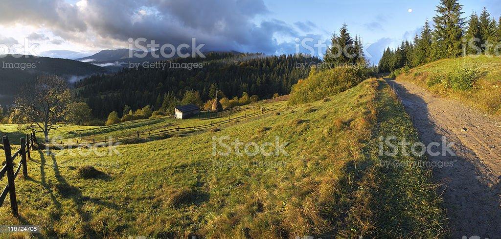 Daybreak in mountain royalty-free stock photo