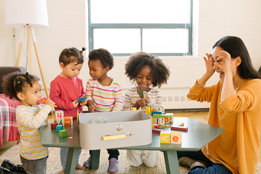 639403466 istock photo Daycare and dancing time for toddlers 860175592