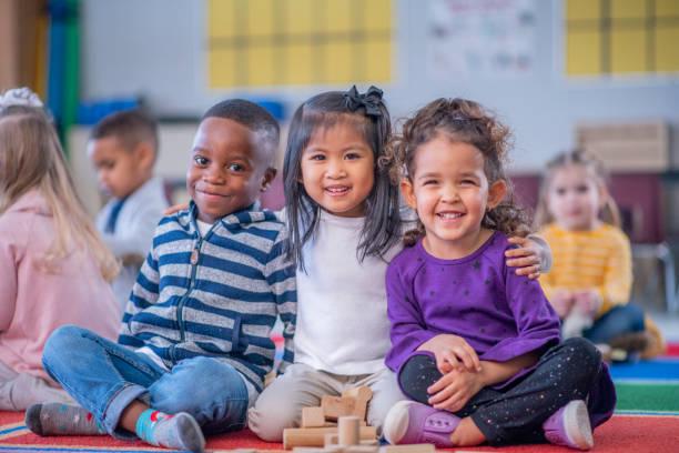 Daycare Children Portrait stock photo stock photo