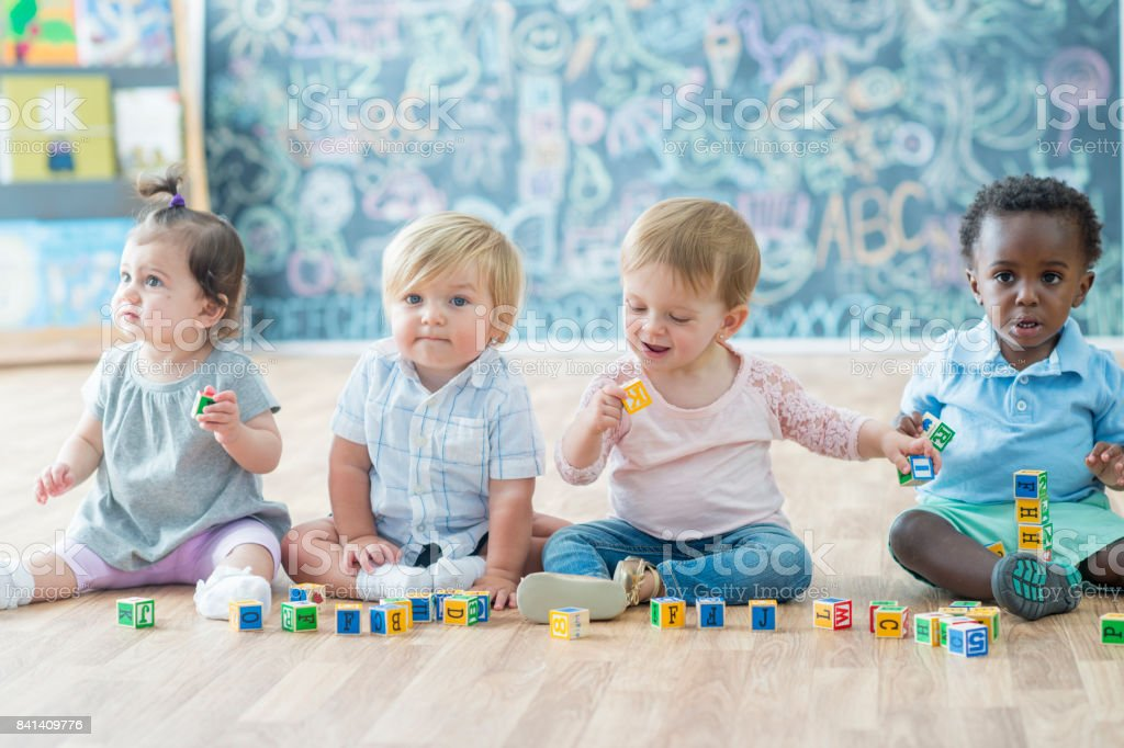 Daycare Kids stock photo