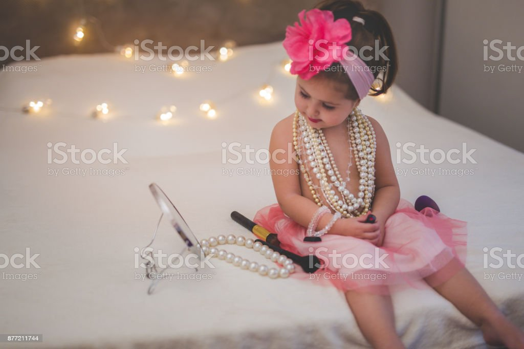 Daydreaming about being adult stock photo