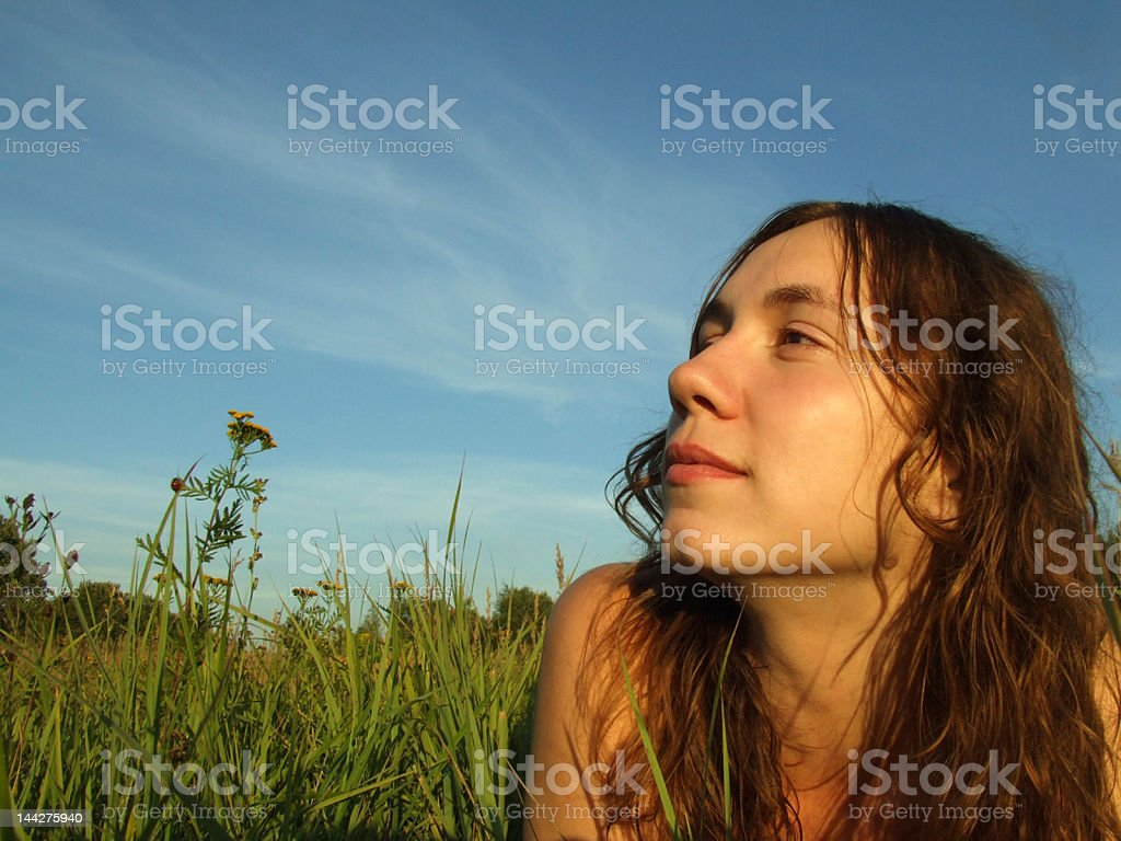 daydreaming at  dawn royalty-free stock photo