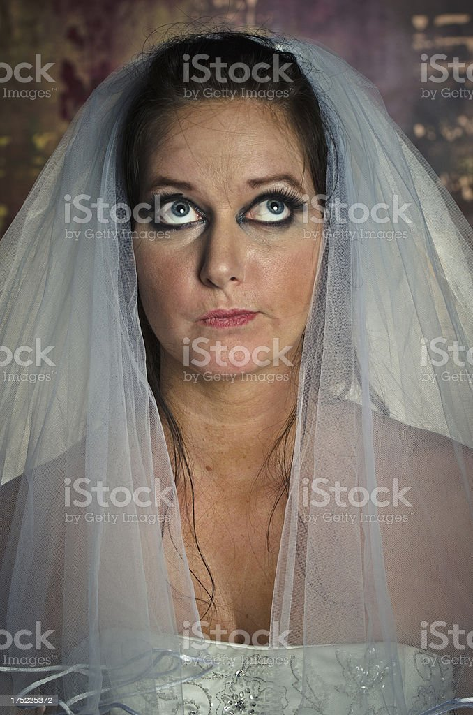 Daydreaming Bride stock photo