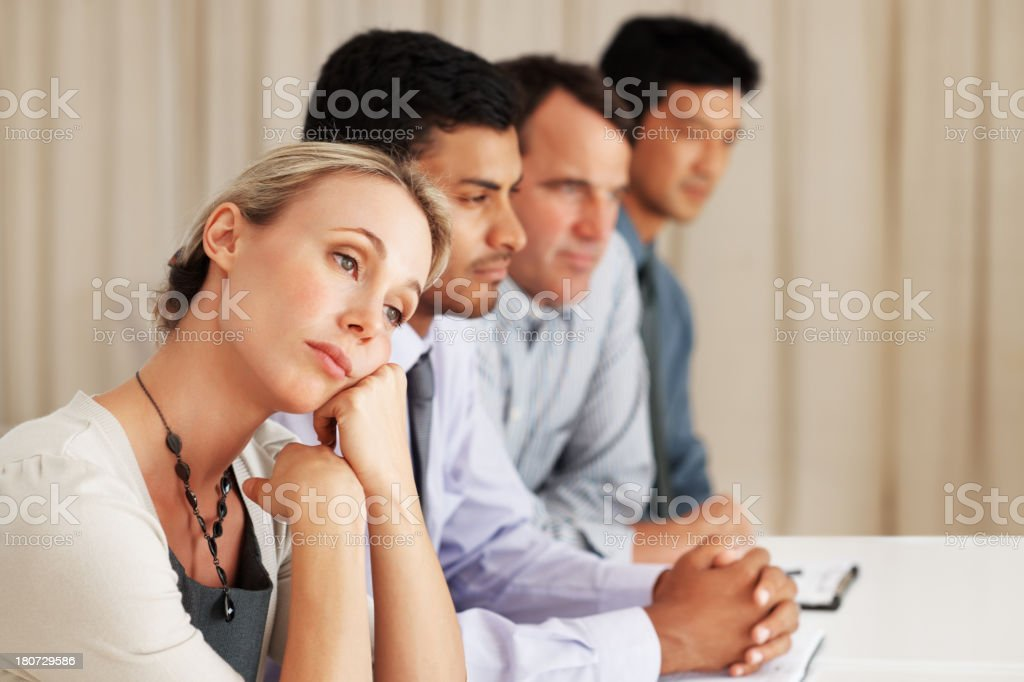 Daydreaming during important business royalty-free stock photo