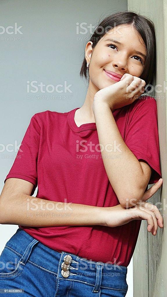 Daydreaming Minority Female stock photo