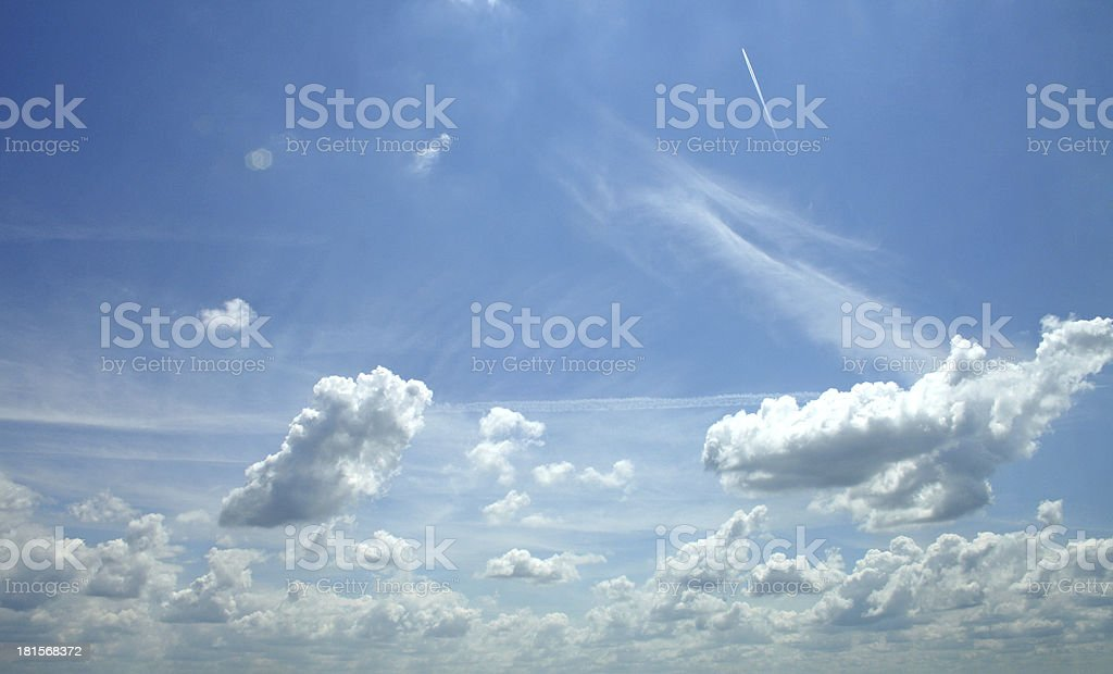 daylight in the sky royalty-free stock photo