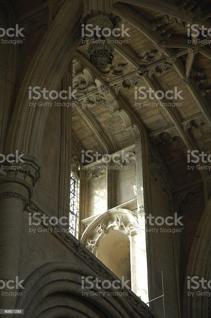 Daylight into the vestry stock photo