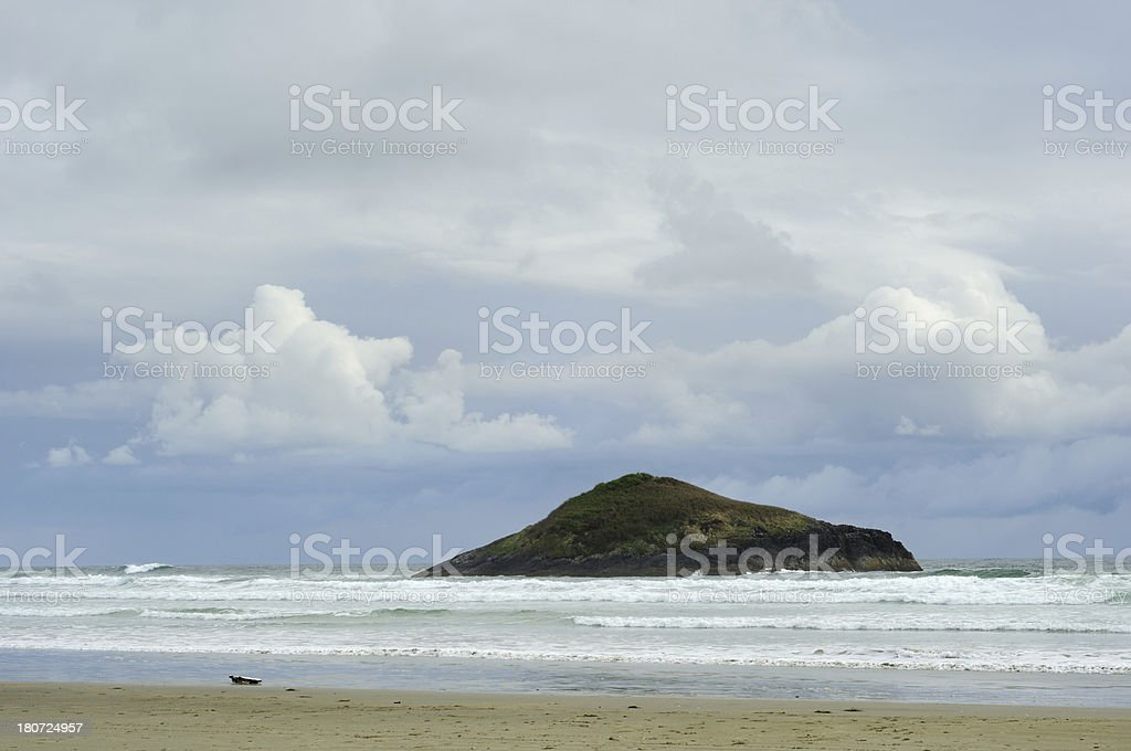 Daylight landscape of Long beach at Vancouver Island royalty-free stock photo