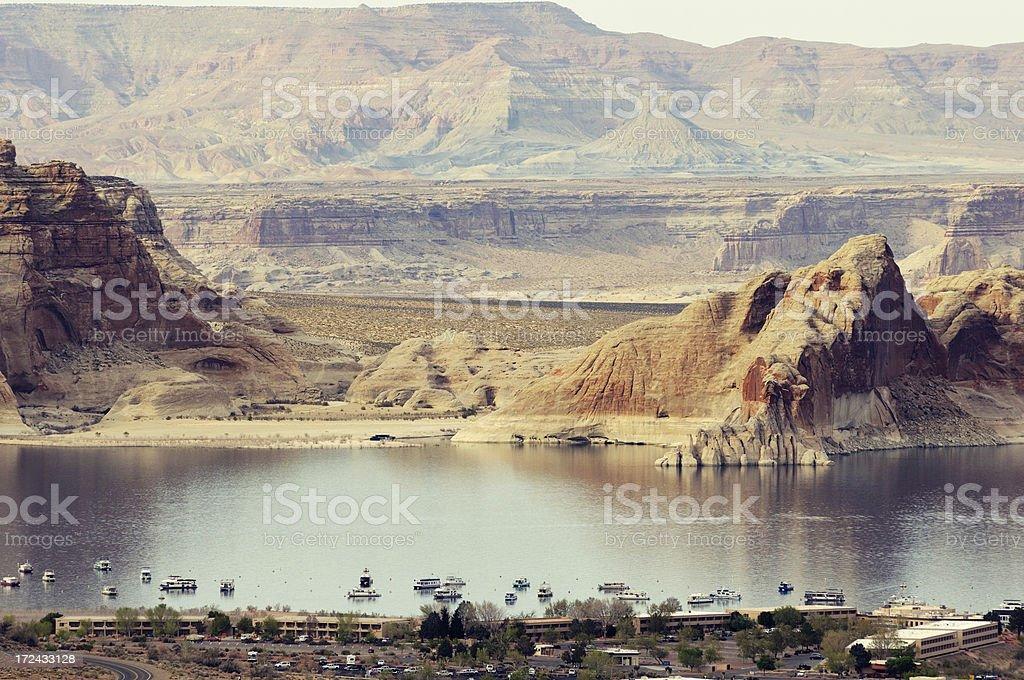 Daylight landscape with Lake Powell, Arizona, USA royalty-free stock photo